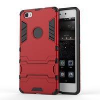 Odolný ochranný kryt na Huawei P8 Lite - červený