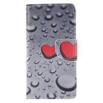 Leathy PU kožené pouzdro na Huawei P8 Lite - srdce