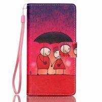 Picture PU kožené pouzdro na Huawei P8 Lite - láska v dešti