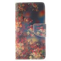 Leathy PU kožené pouzdro na Huawei P8 Lite - podzimní zátiší