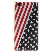 Flexi gelový obal na mobil Huawei P8 Lite - US vlajka