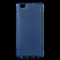 Diamonds gelový obal na Huawei P8 Lite - modrý