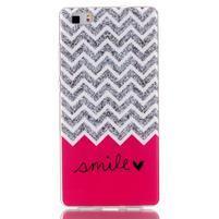 Softy gelový obal na mobil Huawei P8 Lite - smile