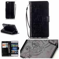 Magicfly PU kožené pouzdro na Huawei P8 Lite - černé