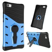 Armory odolný obal se stojanem na mobil P8 Lite - modrý