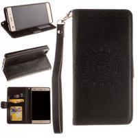 Mandala PU kožené pouzdro na mobil Huawei P8 Lite - černé