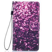 Peněženkové PU kožené pouzdro na Huawei P9 Lite - purple