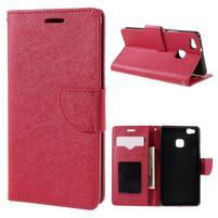 Easy peněženkové pouzdro na mobil Huawei P9 Lite - červené