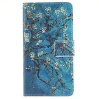 Floaty peněženkové pouzdro na mobil Huawei P9 Lite - kvetoucí strom