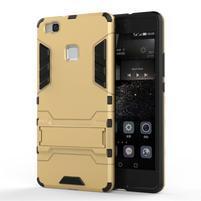 Odolný obal na mobil Huawei P9 Lite - zlatý