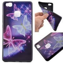 Softy gelový obal na mobil Huawei P9 Lite - kouzelní motýlci