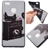 Softy gelový obal na mobil Huawei P9 Lite - kočička