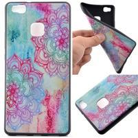 Softy gelový obal na mobil Huawei P9 Lite - lotus