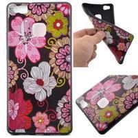 Softy gelový obal na mobil Huawei P9 Lite - květiny