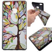 Softy gelový obal na mobil Huawei P9 Lite - barevný strom