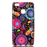 Emotive gelový obal na mobil Huawei P9 Lite - barevné kruhy
