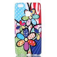 Emotive gelový obal na mobil Huawei P9 Lite - barevné květiny