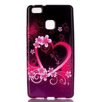 Emotive gelový obal na mobil Huawei P9 Lite - srdce