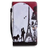 Emotive pouzdro na mobil Huawei P9 Lite - láska pod Eiffelovkou