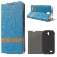 Lines knížkové pouzdro na Huawei Y5 a Y560 - modré