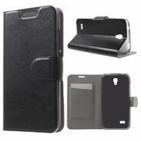 Horse peněženkové pouzdro na mobil Huawei Y5 a Y560 - černé