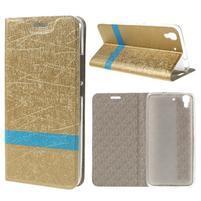 Lines pouzdro na mobil Huawei Y6 - zlaté