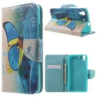 Emotive pouzdro na mobil Huawei Y6 - modrý motýl