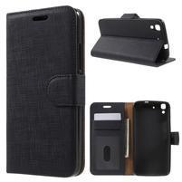 Clothy PU kožené pouzdro na Huawei Y6 - černé