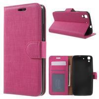 Clothy PU kožené pouzdro na Huawei Y6 - rose