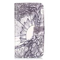 Knížkové pouzdro na mobil Huawei Y6 Pro - kresba
