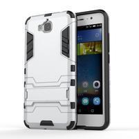 Outdoor odolný obal na mobil Huawei Y6 Pro - stříbrný