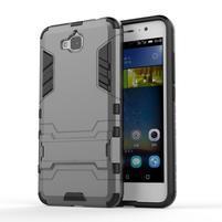 Outdoor odolný obal na mobil Huawei Y6 Pro - šedý