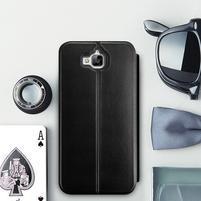 Vintage PU kožené pouzdro na mobil Huawei Y6 Pro - černé