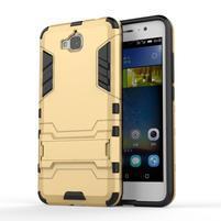 Outdoor odolný obal na mobil Huawei Y6 Pro - zlatý