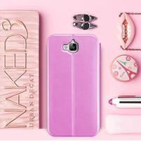 Vintage PU kožené pouzdro na mobil Huawei Y6 Pro - růžové