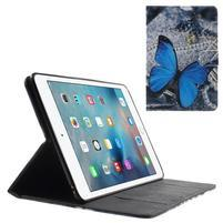 Stylové pouzdro na iPad mini 4 - modrý motýl