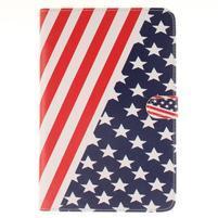 Standy pouzdro na tablet iPad mini 4 - US vlajka