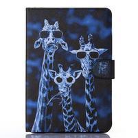 Knížkové pouzdro na tablet iPad mini 4 - žirafy