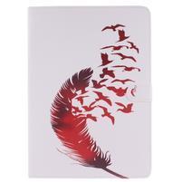 Knížkové pouzdro na tablet iPad Pro 9.7 - ptačí peříčko
