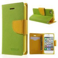 Fancys PU kožené pouzdro na iPhone 4 - zelené