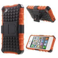 Outdoor odolný obal na mobil iPhone 4 - oranžový
