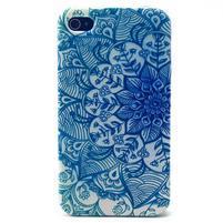Emotive gelový obal na mobil iPhone 4 - modrá mandala