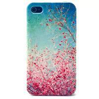 Emotive gelový obal na mobil iPhone 4 - kvetoucí větvičky