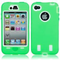 Armor vysoce odolný obal na iPhone 4 - zelený