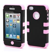 Extreme odolný kryt 3v1 na mobil iPhone 4 - růžový