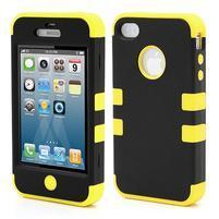 Extreme odolný kryt 3v1 na mobil iPhone 4 - žlutý