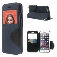 Peněženkové pouzdro s okýnkem na iPhone 6 a 6s -  tmavěmodré