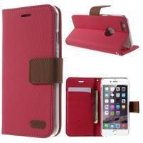 Peněženkové koženkové pouzdro na iPhone 6s a 6 - rose