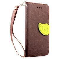 PU kožené peněženkové pouzdro pro iPhone 6s a 6 - hnědé
