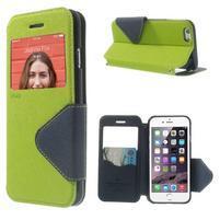 Peněženkové pouzdro s okýnkem na iPhone 6 a 6s - zelené